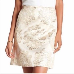 ❗️SALE❗️ Trina Turk Ivory Flores Embroidered Skirt